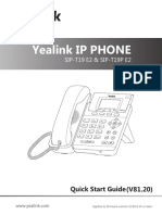Yealink SIP-T19 E2 & T19P E2 Quick Start Guide V81 20