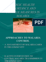 Public Health Importance and Control Measures in Malaria