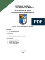 Proyecto de Investigacion Sobre El Recurso Agua