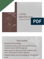 Coffee Masterclass Week 5 PDF