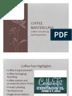 Coffee Masterclass Week 6 PDF