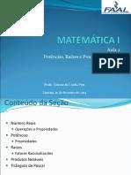 10-02 Aula 1 - Matemática i - Alunos