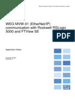 WEG MVW-01 (EtherNetIP) Communication With Rockwell RSLogix 5000