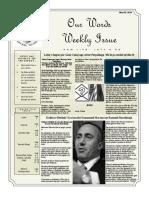 Newsletter Volume 10 Issue 16