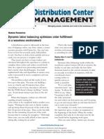 Dynamic Labor Balancing Optimizes Order Fulfillment
