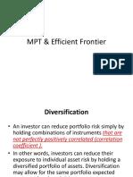 Market Portfolio Efficient Frontier