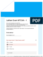 Latihan Exam MTCNA - 1