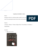 capacitance lab  parallel vs