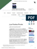 Los Puntos Pivote _ Análisis Técnico _ Técnicas de Trading