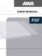 Awa Lc47g58 User Manual