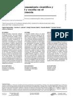 Evaluación de razonamiento científico y comunicación  oral y escrita en el licenciado en enfermería