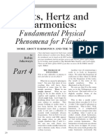 Afinación.hoots, Hertz and Harmonics,Fundamental Physical Phenomena for Flautists.por Jakeways,R.