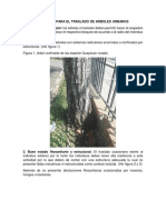 Criterios Para El Traslado de Arboles Urbanos