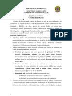 Edital Vagas Residuais 19