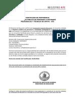 Certificado ATE