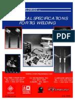 Specification of TIG welding