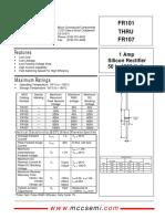 FR 101~107 diodo fast
