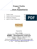 Project Profile on Sodium Hypochlorite