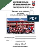 EXAMEN DE MATEMATICA 5° GRADO 2018