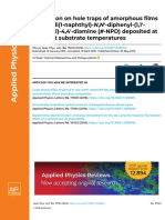 Discussion on Hole Traps of Amorphous Films of N,N′-Di(1-Naphthyl)-N,N′-Diphenyl-(1,1′- Biphenyl)-4,4′-Diamine (Α-NPD) Deposited at Different Substrate Temperatures