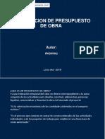 ELABORACION PRESUPUESTO DE OBRA.pptx