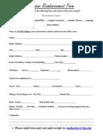 Reimbursement Form - Seminar 2016