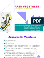 Azucares Vegetales