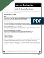 Fórmulas de Evaluación Nutricional
