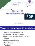REACCIONES DE LOS ALCOHOLES