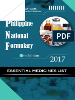 Philippine National Formulary as of February 2019
