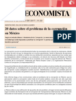 20 Datos Sobre Corrupcion
