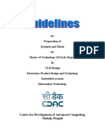M.tech Thesis Norms