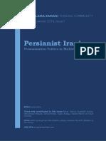 Persianist Iranism Persianization Policies in Multi Etnic Iran 04032015