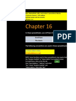 CF 11th Edition Chapter 16 Excel Master Student