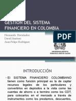 GESTION DEL SISTEMA FINANCIERO EN COLOMBIA