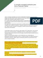 Dizerodireito.com.Br-Índices de Juros e Correção Monetária Aplicados Para Condenações Contra a Fazenda Pública