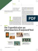 De l'Apothicaire Au Pharmacien Echo-1914