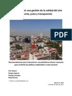 gestion calidad del aire 26 abril 2019