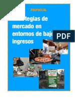 ESTRATEGIAS DE EMPRENDIMIENTO EN MERCADOS DE BAJOS INGRESOS