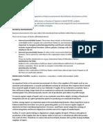 Buisness Environment - Internal - External - Micro - Macro.docx