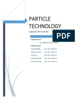 Particle Technology Lab Report