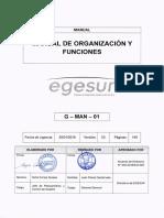 Manual de Organización y Funciones EGESUR