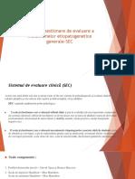 Scale Şi Chestionare de Evaluare a Mecanismelor Etiopatogenetice General SEC