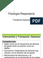 Clase II-3a - Fisiologia Del Sistema Respiratorio II - Intercambio Gaseoso Alveolocapilar. Difusion y Transporte de o2 y Co2