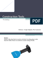 Construction tools ppt