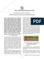 Determination of Mechanical Properties of PCB