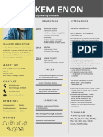 Resume Format for Engineering Freshers