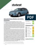 Hyundai Kona Elektro 64 KWh Premium