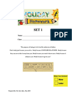 Holiday Work Set 1 (CALCULUS)