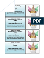 Ice Cream Promo Layout